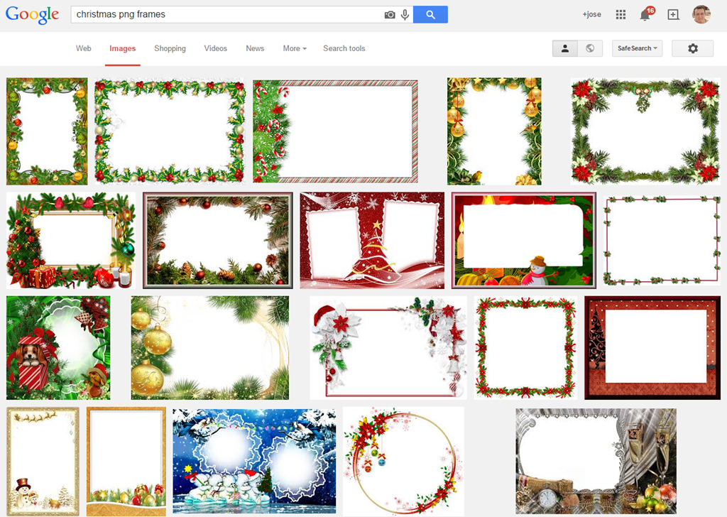 Marcos navideños con photoshop. | Fotografia para principiantes